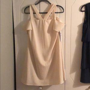 NWT London Times Cream off shoulder Dress